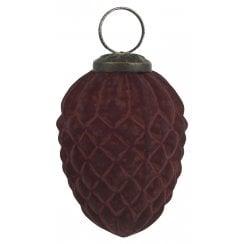 Danish Collection Hanging Cone Ornament - Bordeaux
