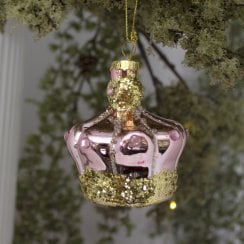 Danish Collection Hanging Decoration Crown - Light Pink D8cm