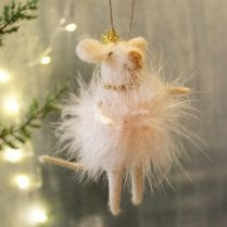 Danish Collection Hanging Fairy Mouse - White