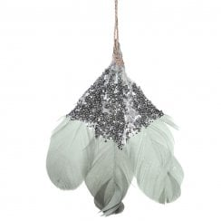 Danish Collection Hanging Feather Decoration - White