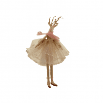 Danish Collection Hanging Reindeer Ballerina in Pink