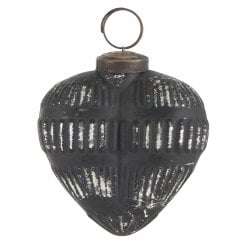 Danish Collection Heart Shaped Ornament - Black