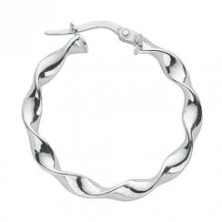 Danish Collection Hoop Earrings - Twisted 925 Sterling Silver