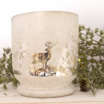 Danish Collection Hurricane Frosted White - H15cm