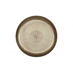 Danish Collection Iron Lady Metal Tray - Antique Brass