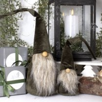 Danish Collection KAJ Velvet Gnome Green/White Beard - H46cm