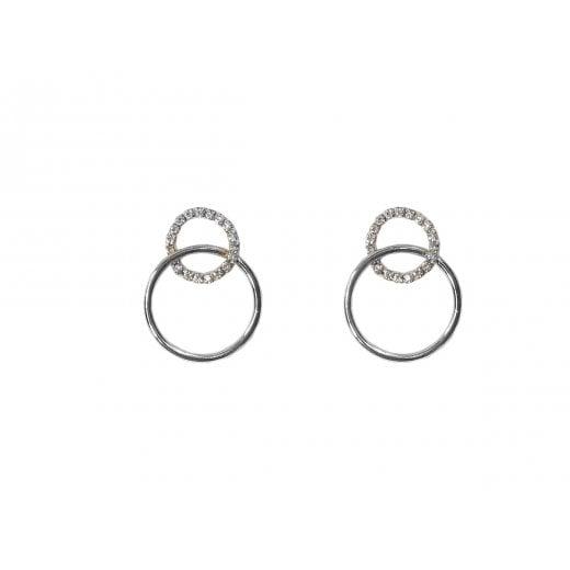 Danish Collection Kelly Diamante Hoop Earrings
