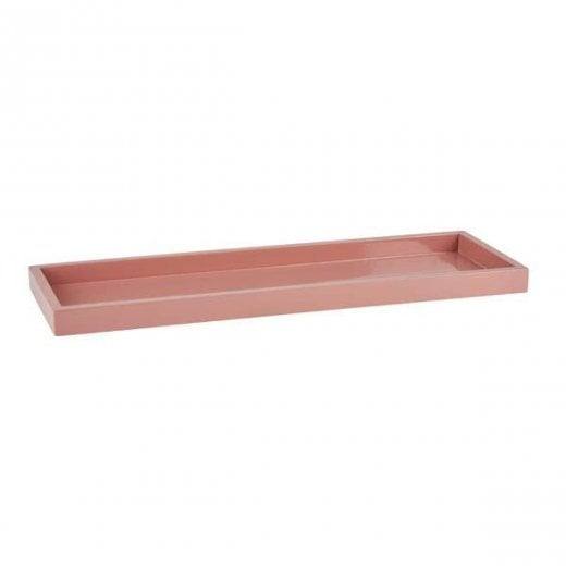 Danish Collection Lacquered High Side Tray - Blush