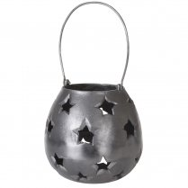 Danish Collection Lantern w/star Black H21cm