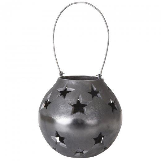 Danish Collection Lantern w/star Black H25cm