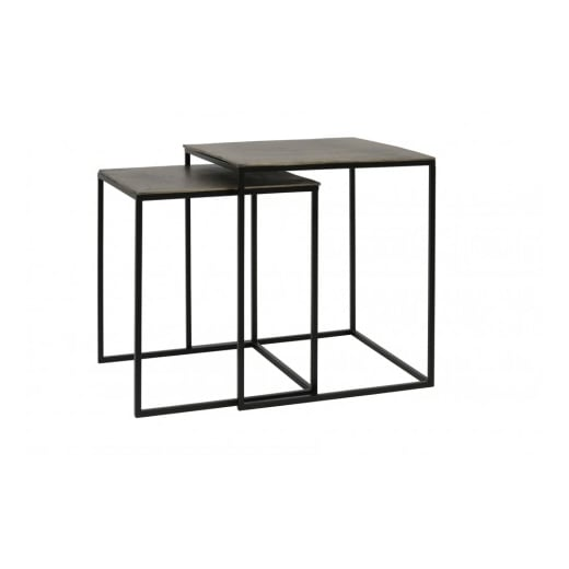 Danish Collection Large Bronze Side Table