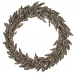 Danish Collection Large Fir Wreath - Silver