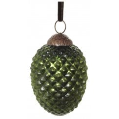 Danish Collection Large Glass Ridged Cone - Green