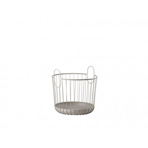 Danish Collection Large Metal Basket - Taupe