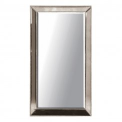 Danish Collection Large Mirror With Beading Effect - Silver