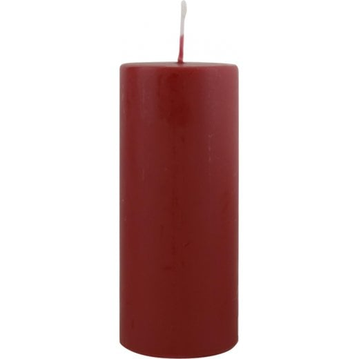 Danish Collection Large Plain Candle - Dark Red