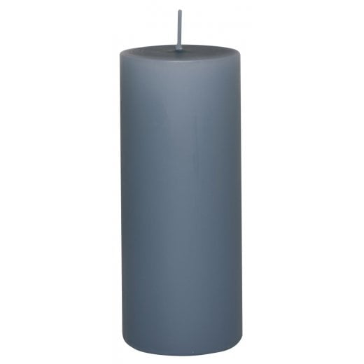 Danish Collection Large Plain Candle - Pigeon Blue