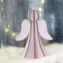 Danish Collection Large Plywood Angel - Pink