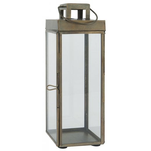 Danish Collection Large Square Lantern - Brass