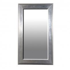 Danish Collection Large Thick Frame Mirror - Dark Silver