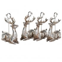 Danish Collection Laying Deer Placecard Holder