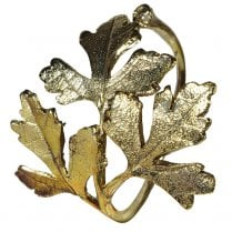 Danish Collection Leaf Napkin Ring - Gold