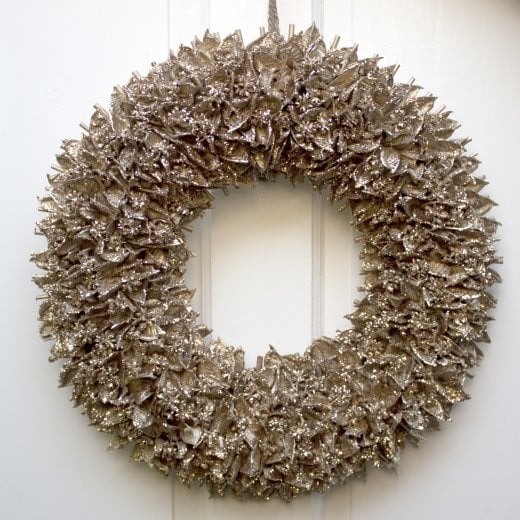 Danish Collection Leafy Wreath - Gold