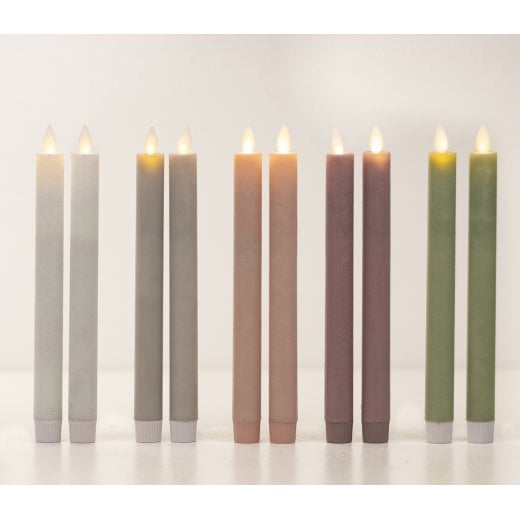 Danish Collection LED Candle Pack/2 - White