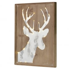 Danish Collection LED Stag with Plaque