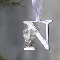 Danish Collection Letter N - Polished Metal