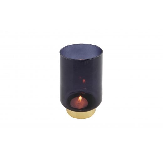 Danish Collection Lola Glass Candleholder - Blue