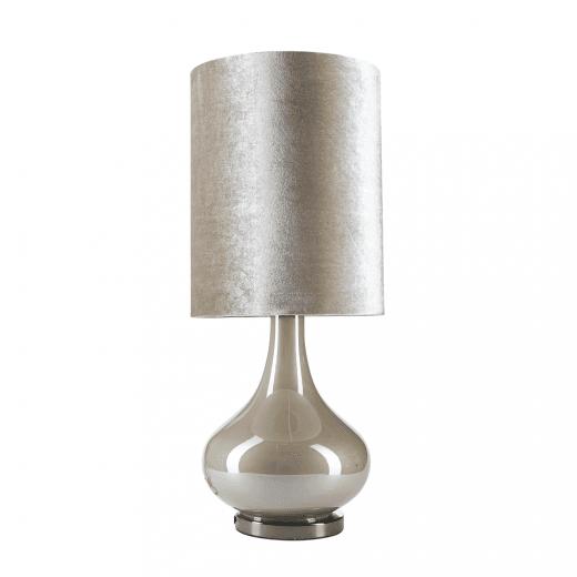 Danish Collection Margit Brandt Velour Table Lamp - Grey