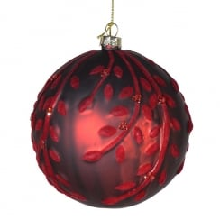 Danish Collection Matte Red Bauble