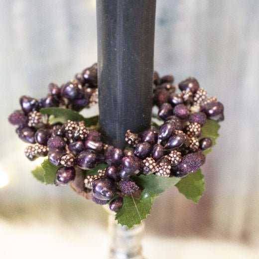 Danish Collection Medium Berrybud Candle Ring - Purple