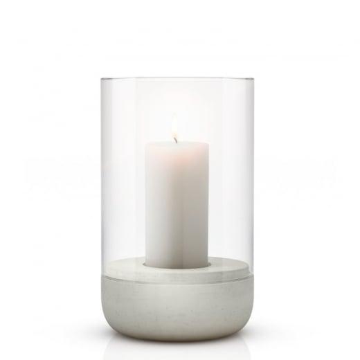 Blomus Medium Concrete and Glass Tealight Holder
