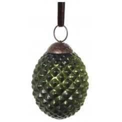 Danish Collection Medium Glass Ridged Cone - Green
