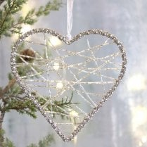 Danish Collection Medium Hanging Wire Heart - Clear