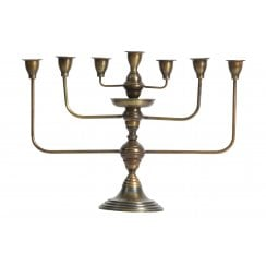 Danish Collection Metal Totem Candleholder - Antique Brass
