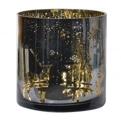 Danish Collection Metallic Candleholder