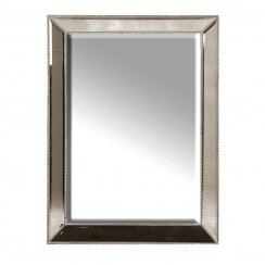 Danish Collection Mirror silver with beading effect (LOCAL DELIVERY ONLY)