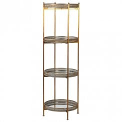 Danish Collection Multi Mirror 4 Tier Stand in Gold