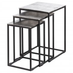 Danish Collection Occasional Table Medium - Iron With Nickel Top