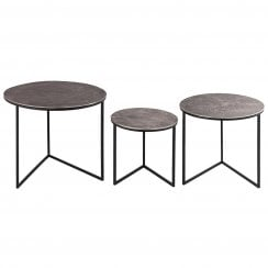 Danish Collection Occasional Table Round Large - Iron With Nickel Top