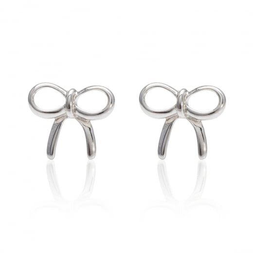 Danish Collection Open bow Silver Stud Earrings