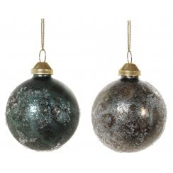 Danish Collection Painted Glass Bauble - Brown
