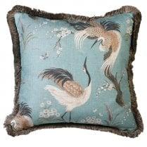 Danish Collection Pale Blue Crane Cushion 50x50