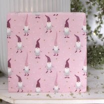 Danish Collection Paper Napkins Many Gnomes - Pink