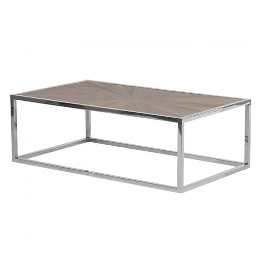 Danish Collection Parquet Top Coffee Table