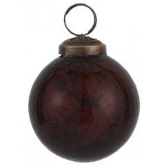 Danish Collection Pebbled Glass Bauble - Bordeaux