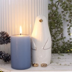Danish Collection Penguin Large White With Gold - H16cm